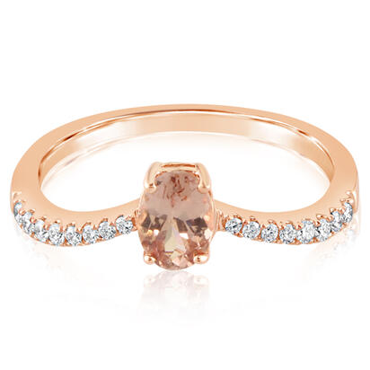 14K Rose Gold Lotus Garnet/Diamond Ring | RPF221LG1RI