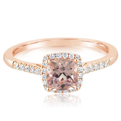 14K Rose Gold Lotus Garnet/Diamond Ring | RPF231LG2RI