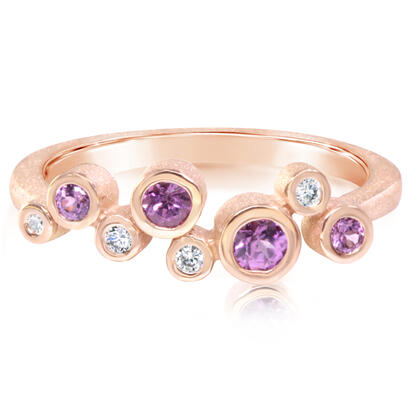 14K Rose Gold Purple Garnet/Diamond Ring | RPF232GP2RI