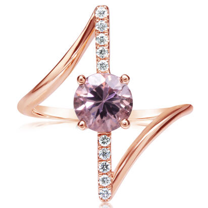 14K Rose Gold Lotus Garnet/Diamond Ring | RPF237LG2RI
