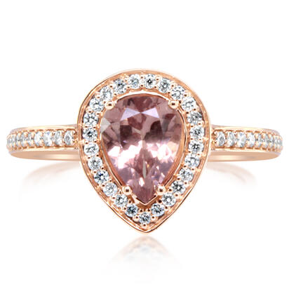 14K Rose Gold Lotus Garnet/Diamond Ring | RPF239LG2RI
