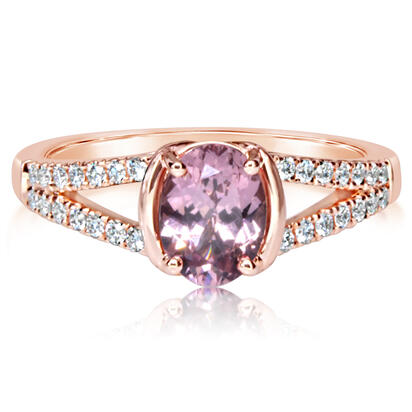 14K Rose Gold Lotus Garnet/Diamond Ring | RPF253LG2RI