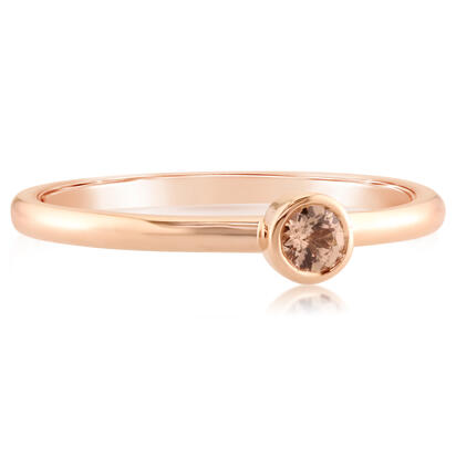 14K Rose Gold 3mm Round Lotus Garnet Stackable Ring | RPF706LGXRI