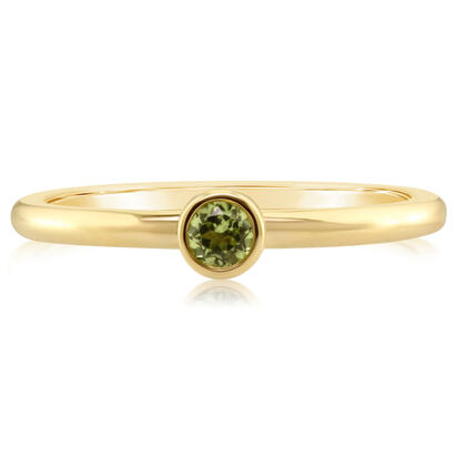 14K Yellow Gold 3mm Round Peridot Stackable Ring | RPF706T2XCI