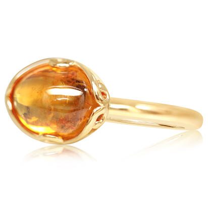 14K Yellow Gold Mandarin Garnet Ring | RSECB980300C