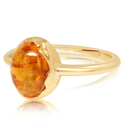 14K Yellow Gold Mandarin Garnet Ring | RSECB980355C