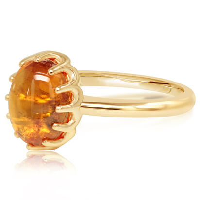 14K Yellow Gold Mandarin Garnet Ring | RSECB980365C