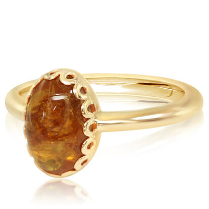 14K Yellow Gold Mandarin Garnet Ring | RSECB980380C