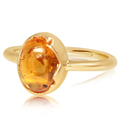 14K Yellow Gold Mandarin Garnet Ring | RSECB980395C