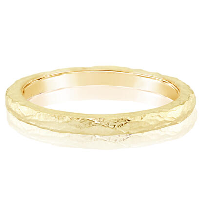 14K Yellow Gold Band with Hammer Finish | RPF731XXXC