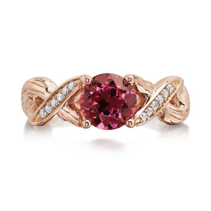 14K Rose Gold Semi-Mount/Diamond Ring | RSR009XX2RI