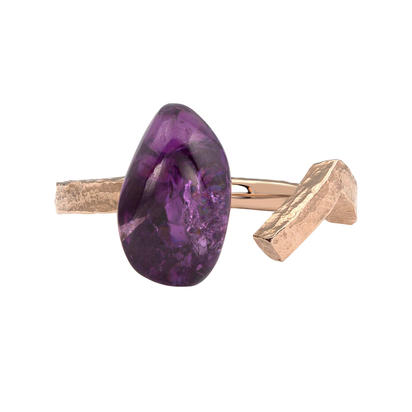 14K Rose Gold Purple Garnet Ring | RSR019GPXXXXR