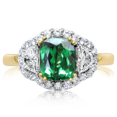 18K White and Yellow Gold Tsavorite/Diamond Ring | RV0CU450197BI