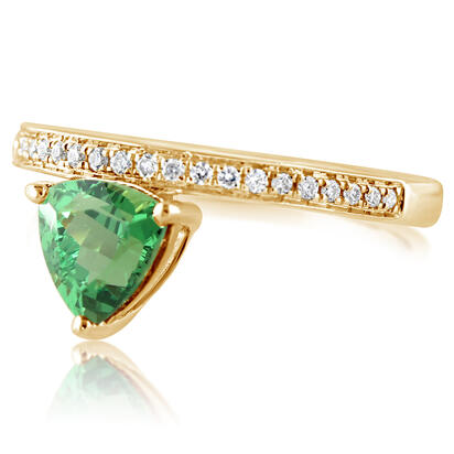 14K Yellow Gold Tsavorite/Diamond Ring | RV0TR550142CI