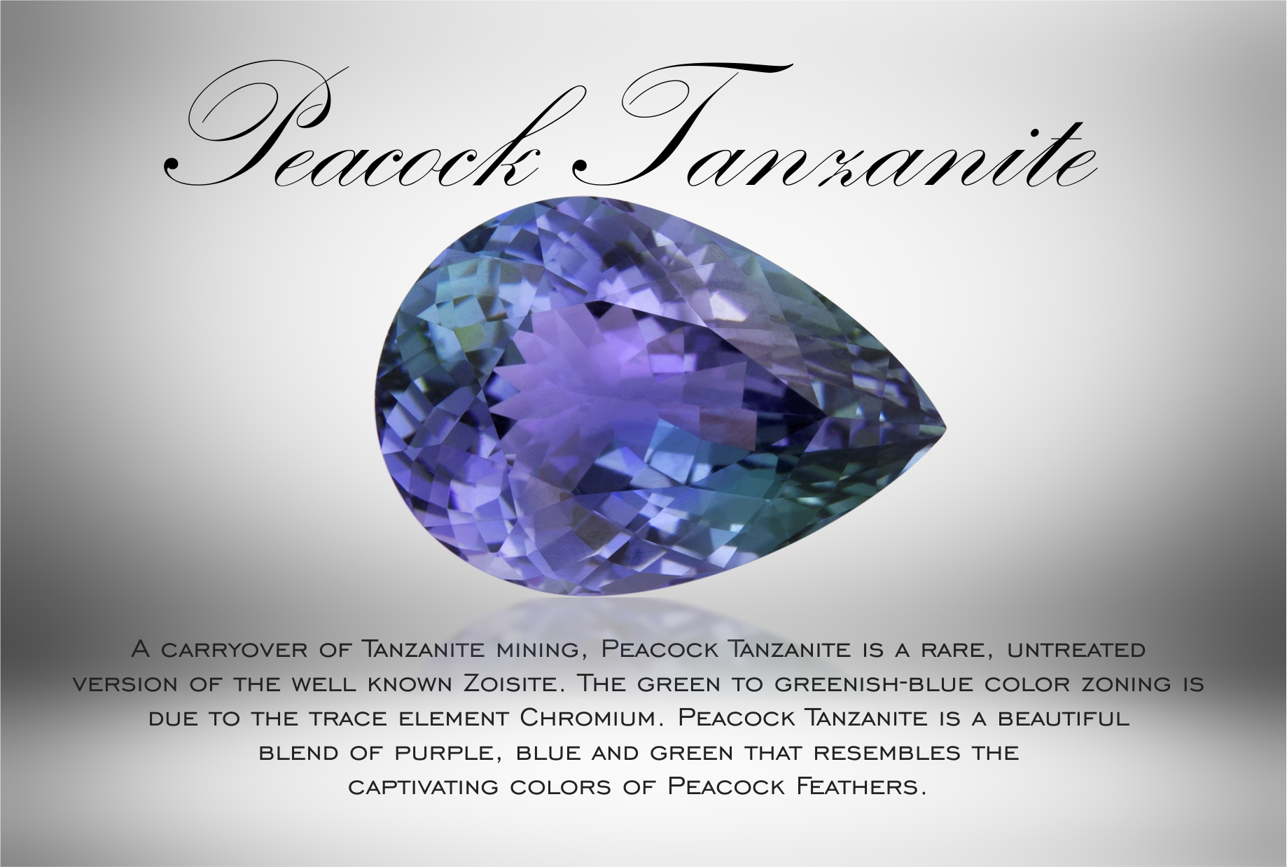 Peacock Tanzanite POP